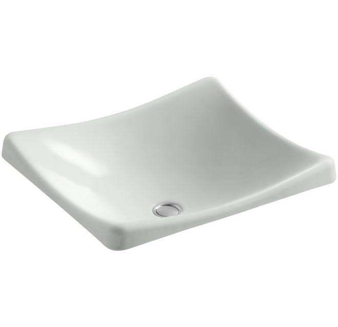 "Shop Kohler DemiLav 18-1/4"" Enameled Cast Iron Wading Pool Bathroom Sink from Build.com on Openhaus"