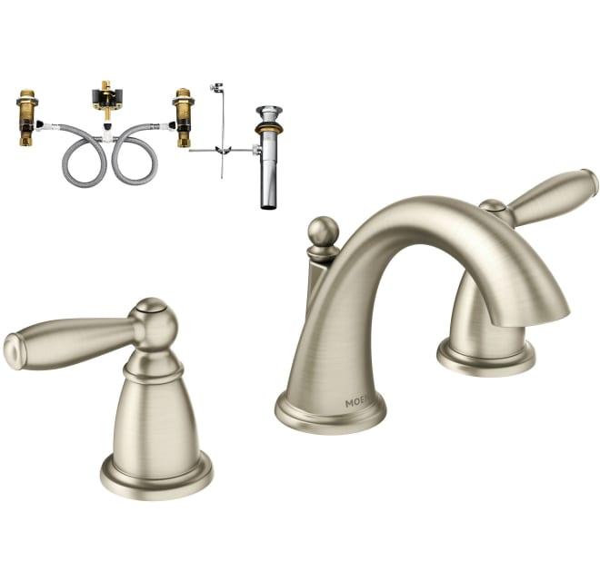 Moen T6620bn 9000 Double Handle, Bathroom Faucets Widespread Brushed Nickel