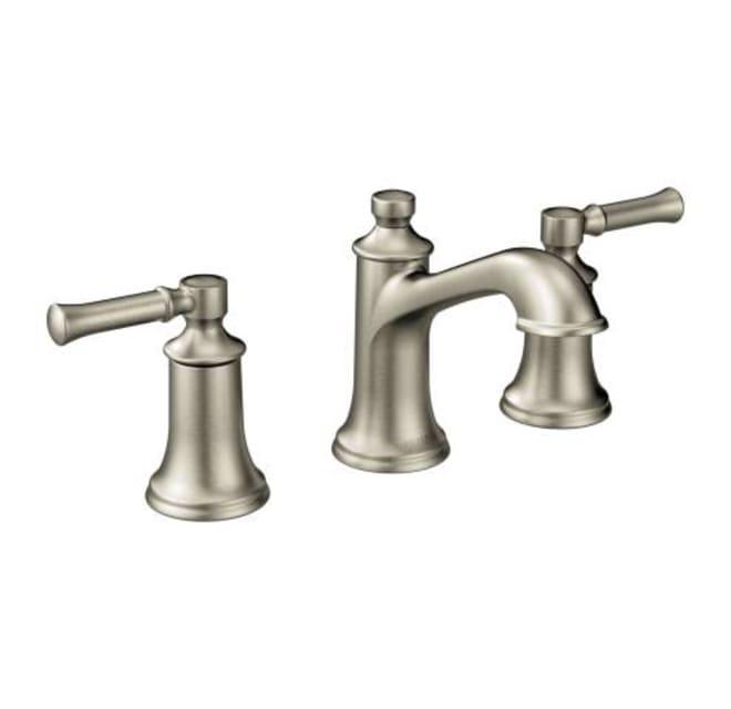 Double Handle Widespread Bathroom, Moen Bathroom Faucets Widespread Brushed Nickel