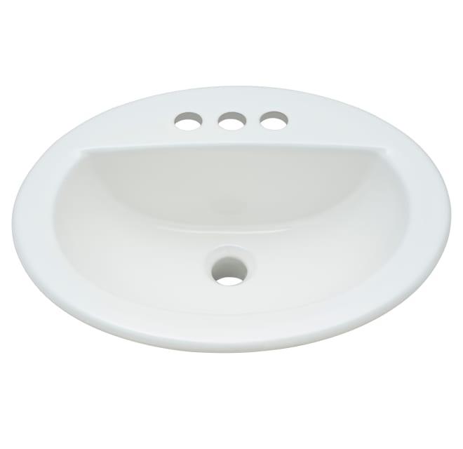 Proflo Pf19164wh 19 Self Rimming Oval Bathroom Build Com