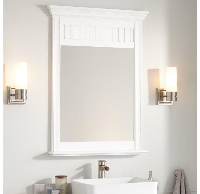 Signature Hardware 273450 Cottage 40 X, White Bathroom Mirror 30 X 40