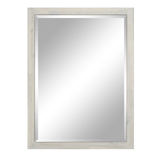 Sunny Wood Nn3040mr Nina 40 X 30, White Bathroom Mirror 30 X 40