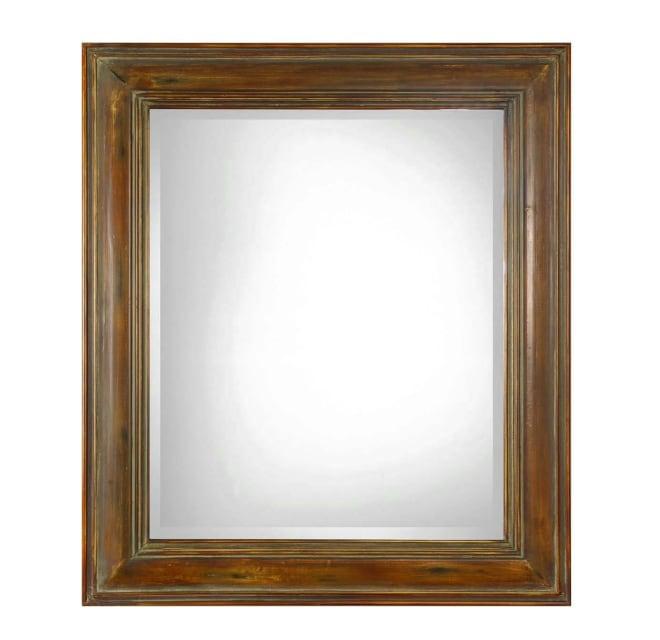 Uttermost 07016 Darian 42 Inch X 36, 36 X 42 Framed Beveled Mirror