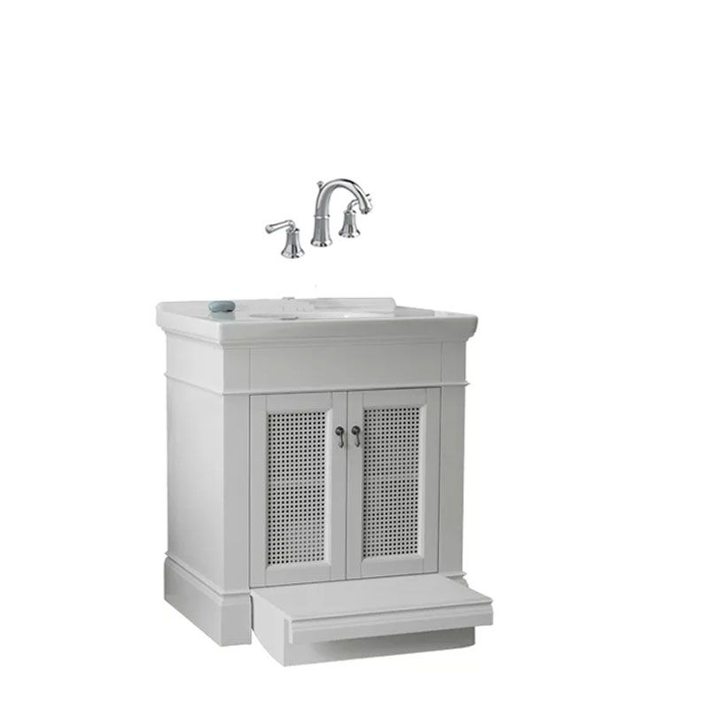 Portsmouth luxury powder room 2 a in white - American standard bathroom cabinets ...