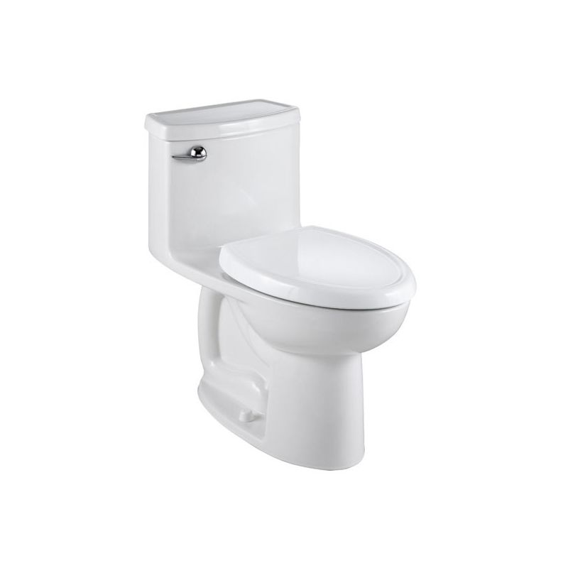 American Standard White Cadet Compact Elongated One Piece Toilet Everclean