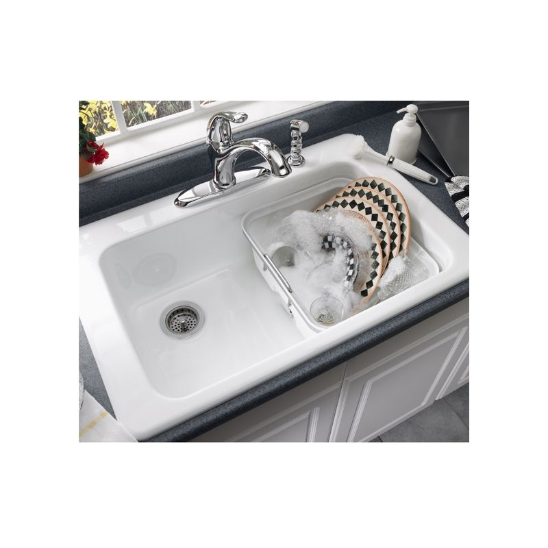 americast kitchen sink faucet 7193 804 345 in bisque by american standard 1240