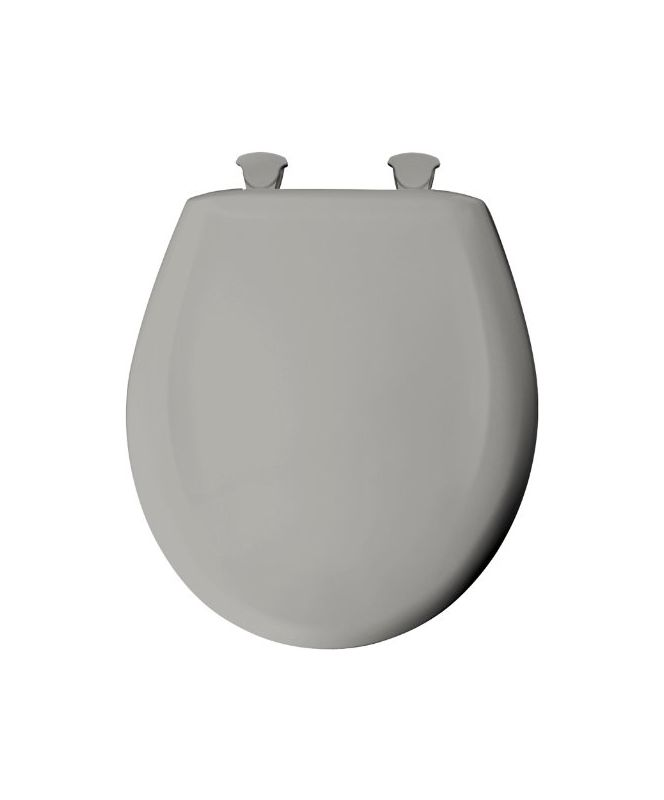 Bemis 200slowt 062 Ice Grey Round Closed Front Toilet Seat