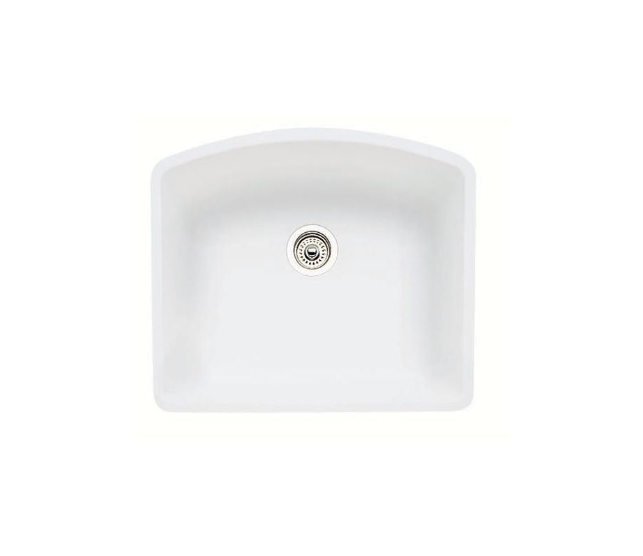 Blanco 440175 White Diamond Single Basin Silgranit Ii