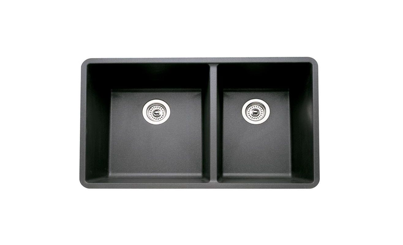 Anthracite Kitchen Sink : ... Anthracite Precis 1-3/4 Bowl Double Basin Kitchen Sink 33