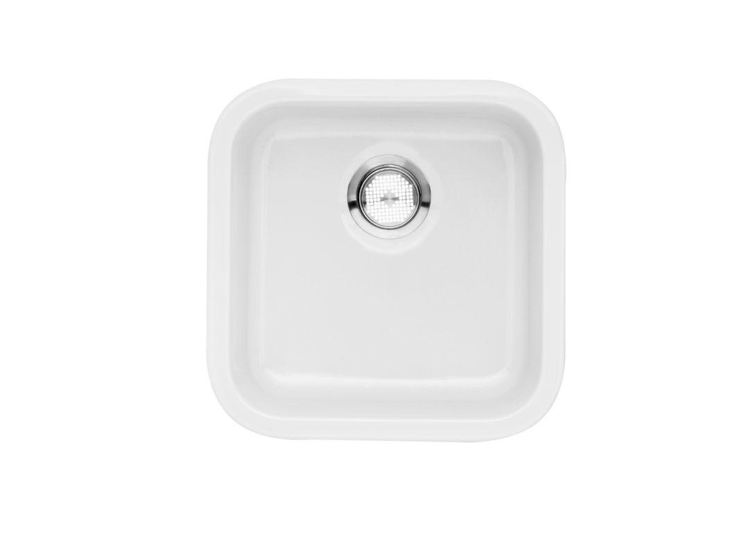 Blanco 518542 White Cerana Bar Sink Fireclay Undermount Single Basin ...