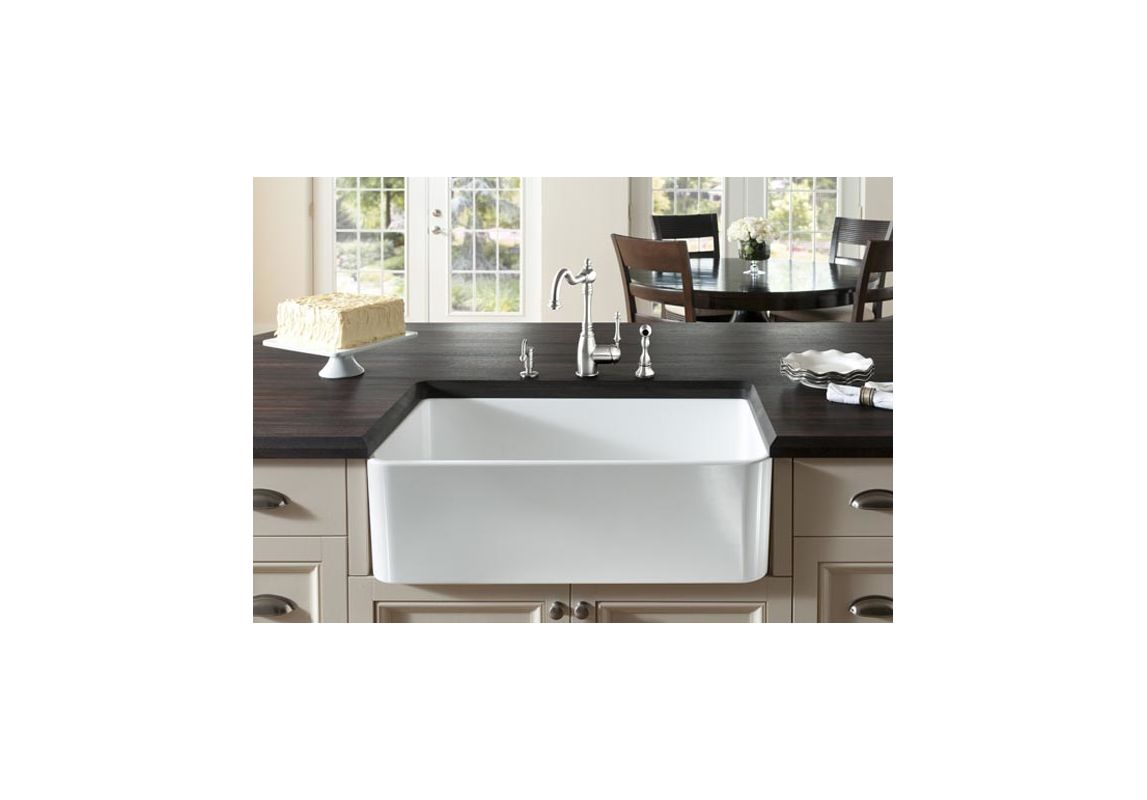 Blanco 441694 White Cerana 30-inch Farmhouse Kitchen Sink Apron-Front ...