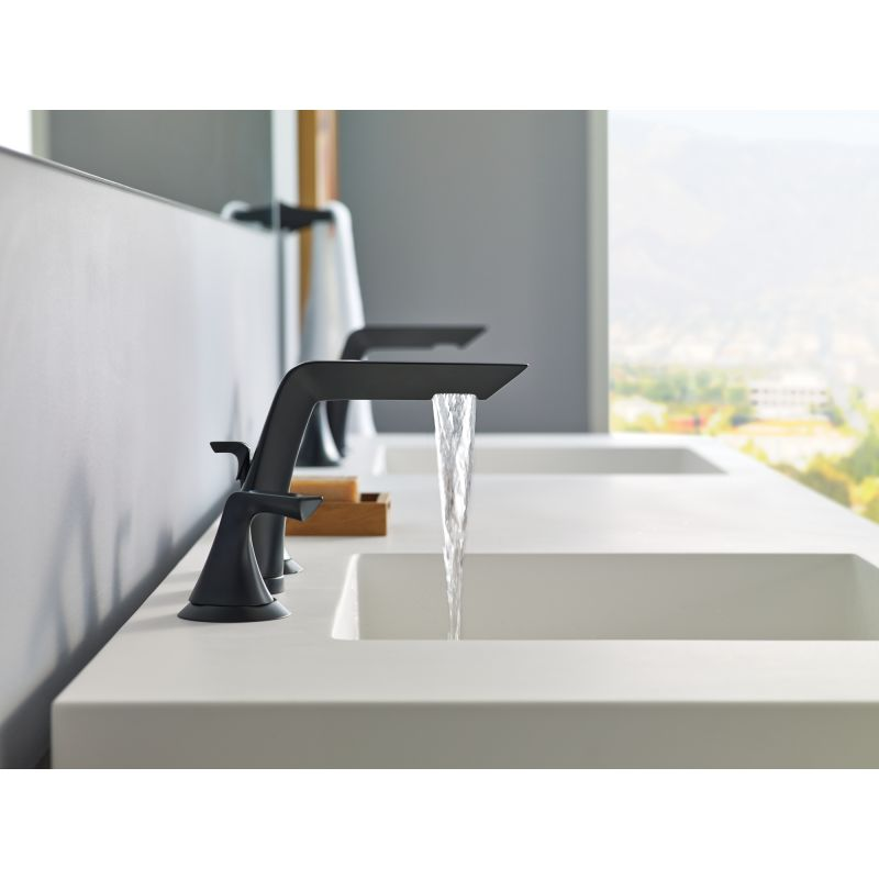 ... Brizo 65350LF Running Faucet In Matte Black ...