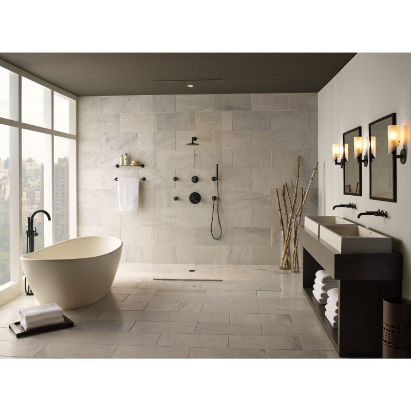 Attractive Brizo 65875LF Full Bathroom View