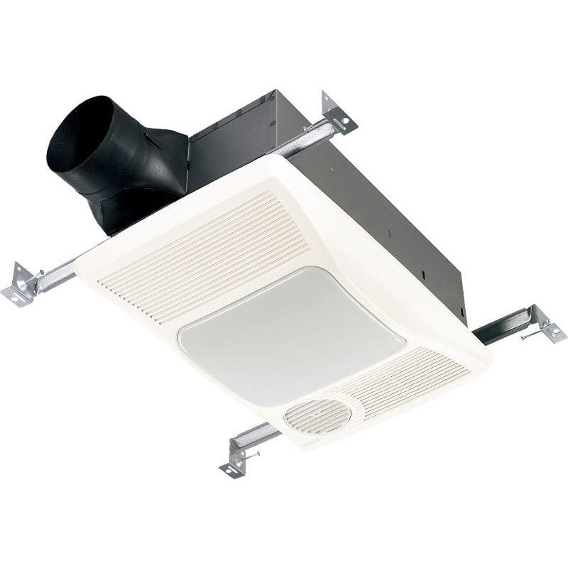 Broan 100hl White 100 Cfm 2 Sone Ceiling Mounted Hvi Certified Bath Fan With Incandescent Light