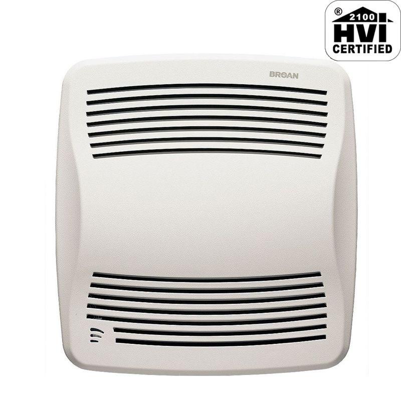Shop Broan 0 3 Sone 110 Cfm White Bathroom Fan Energy Star: Broan QTXE110S White 110 CFM 0.7 Sone Ceiling Mounted