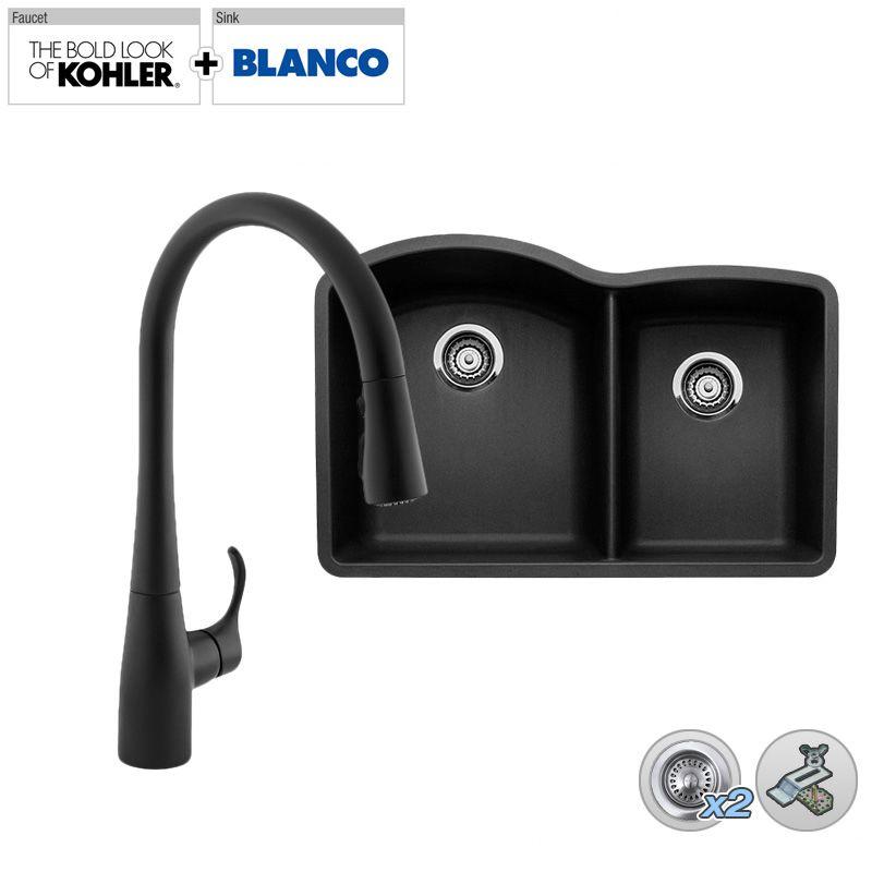 Kohler Simplice Kitchen Faucet Parts: B440179/K-596MB In Matte Black Faucet By