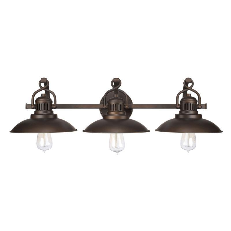 Capital Lighting 3793bb Burnished Bronze O 39 Neill Collection 3 Light Bathroom Vanity Fixture