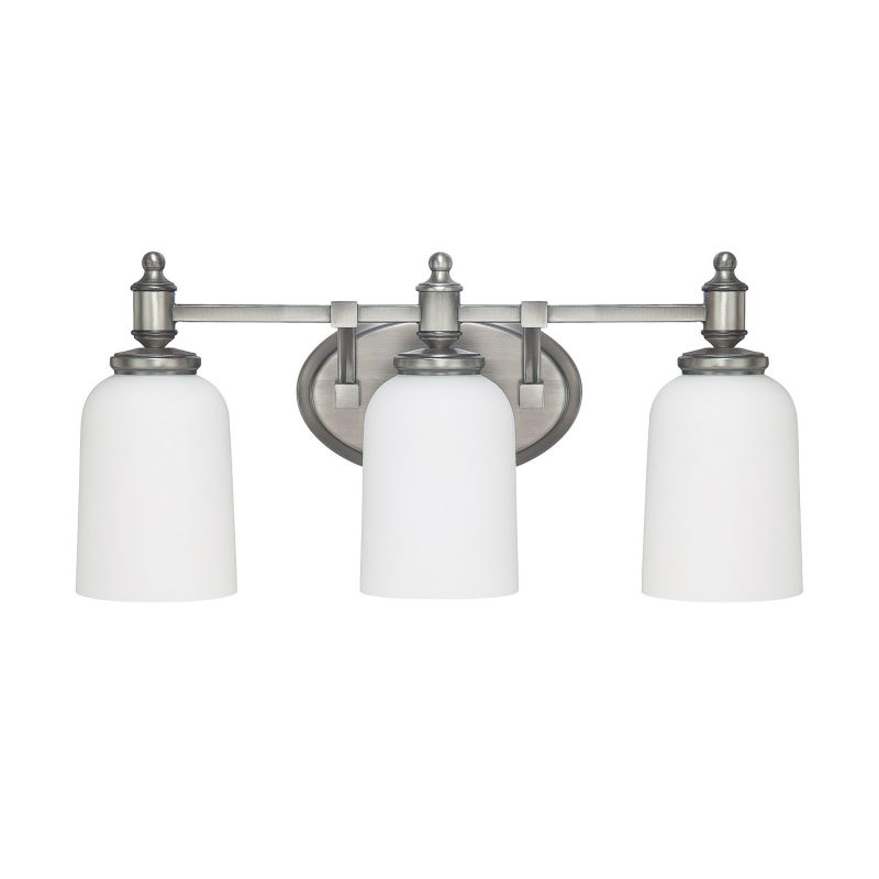 Capital Lighting 8443an 102 Antique Nickel Covington 3 Light Bathroom Vanity Fixture