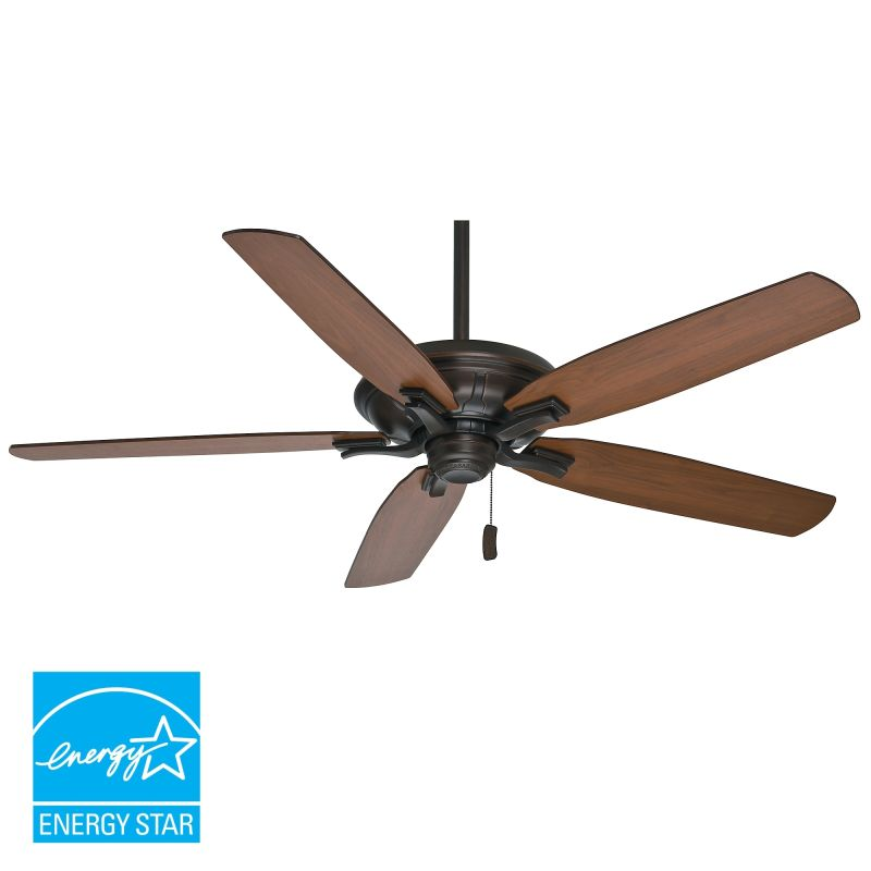 "Hunter Ashbrook 48 Brushed Cocoa Ceiling Fan With Light: Casablanca 55015 Brushed Cocoa Brescia 54-60"" 5 Blade"