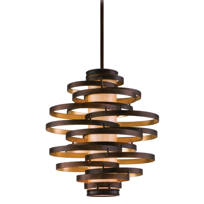 Corbett Lighting 113 43 Bronze With Gold Leaf Vertigo 3 Light Modern Pendant