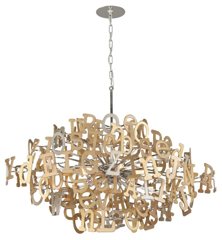 Corbett Lighting 208 58 Polished Stainless Steel And Multi Leaf