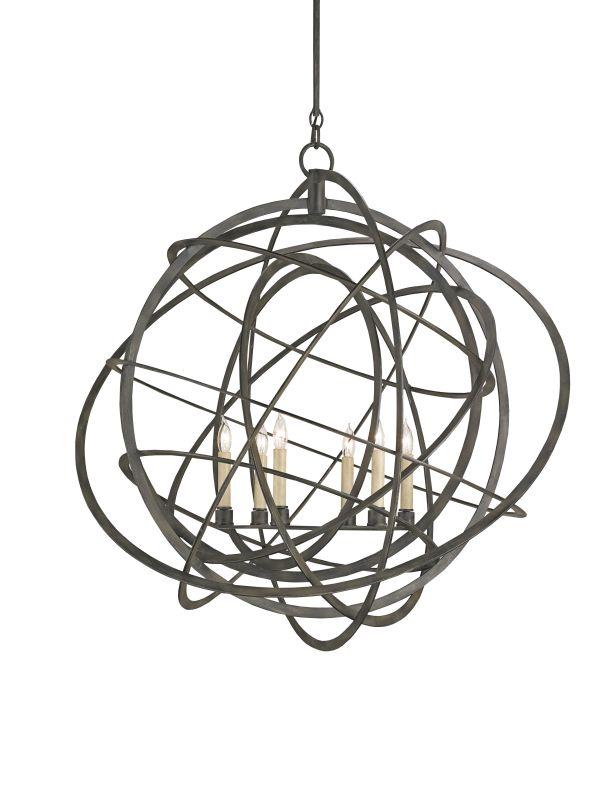 currey and company 9488 black iron genesis 6 light globe