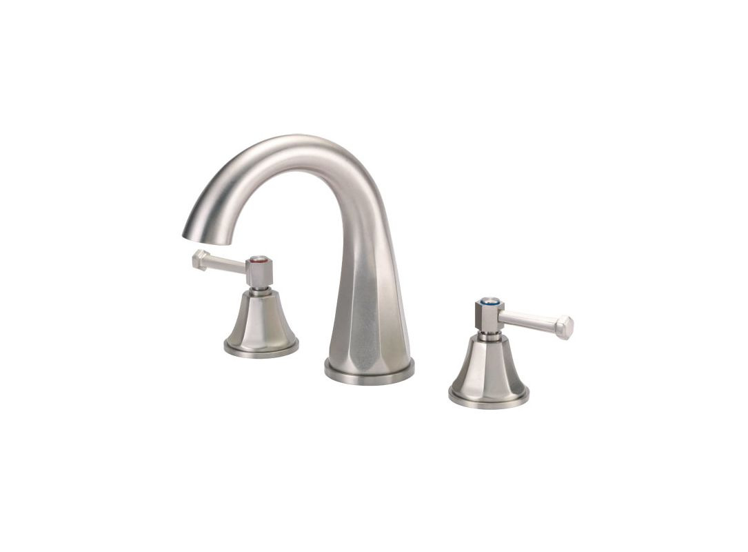 danze d314668bnt brushed nickel deck mounted roman tub faucet trim