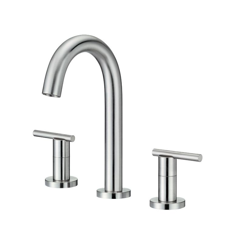 Danze D304658bn Brushed Nickel Widespread Bathroom Faucet From The Parma Collection Valve