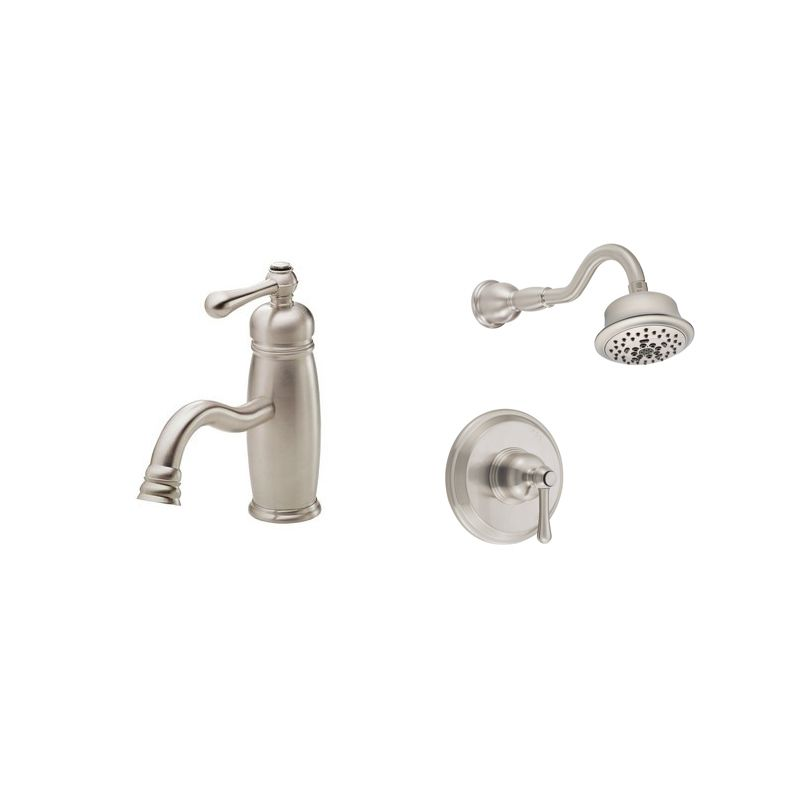 opulence faucet and shower bundle 1 bn in brushed nickel by danze