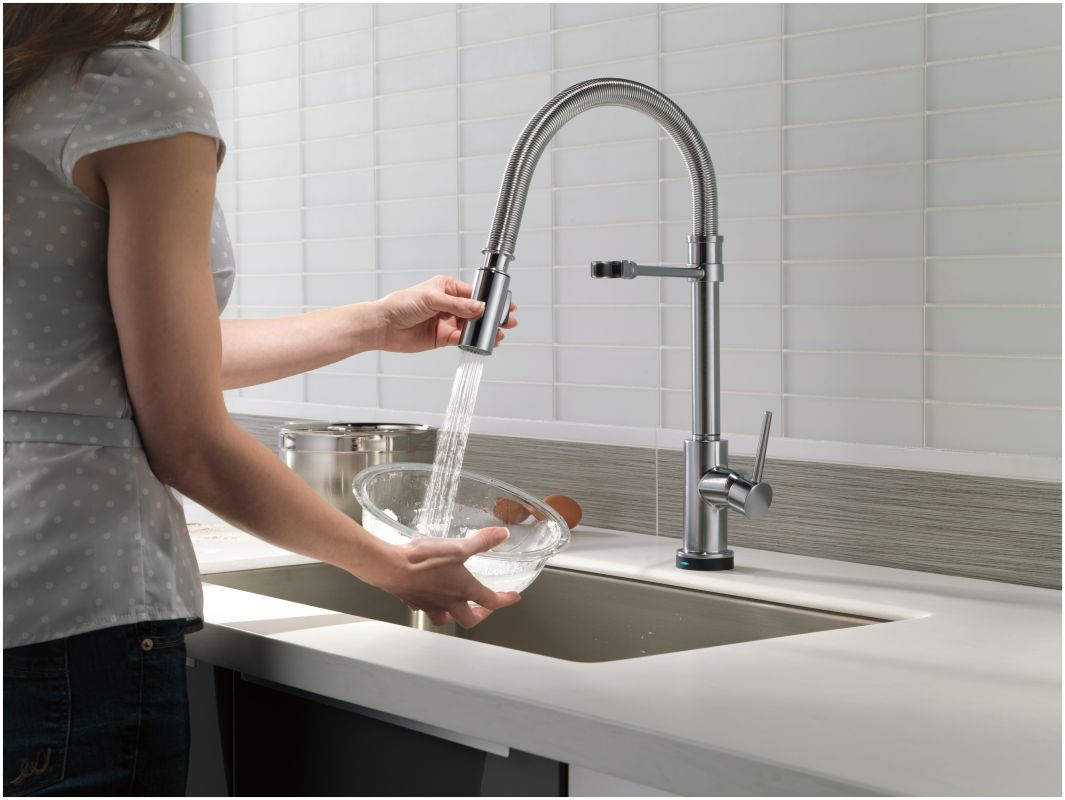 Delta Touch2o Kitchen Faucet Faucetcom 9659t Ar Dst In Arctic Stainless By Delta