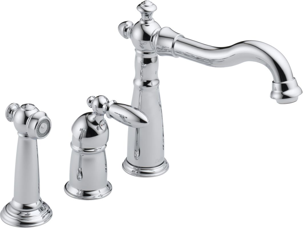 Delta 155 Dst Chrome Victorian Kitchen Faucet With Side