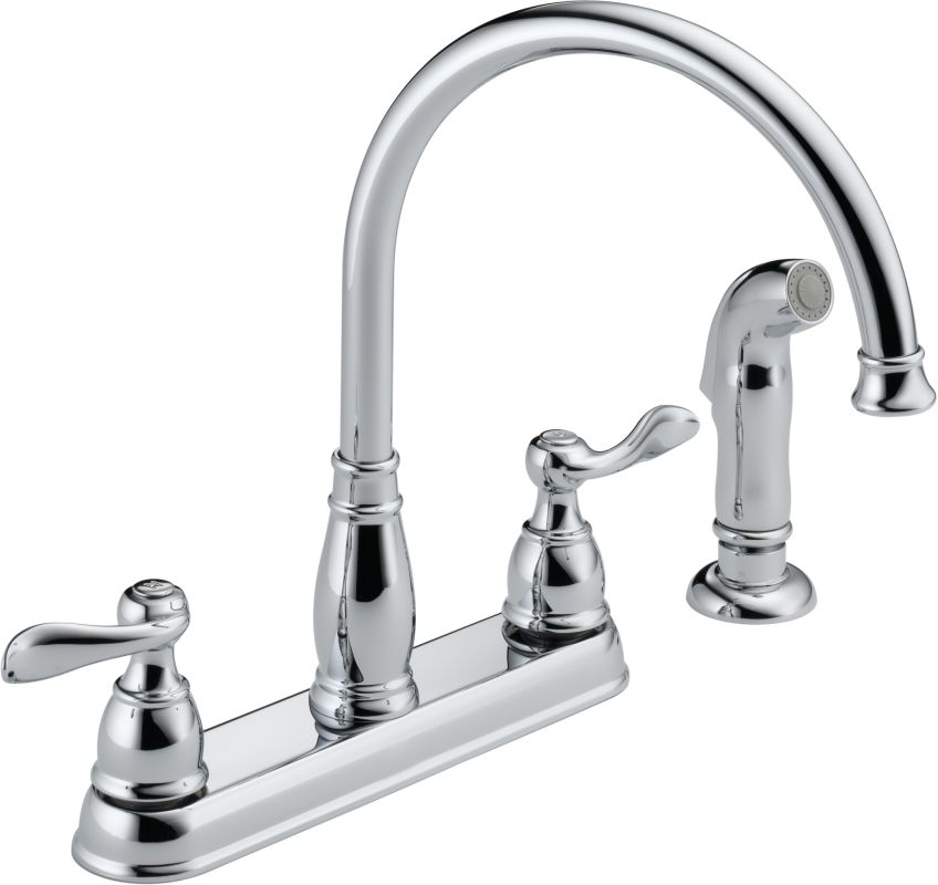 delta kitchen faucets warranty delta 21996lf chrome windemere kitchen faucet with side 17203