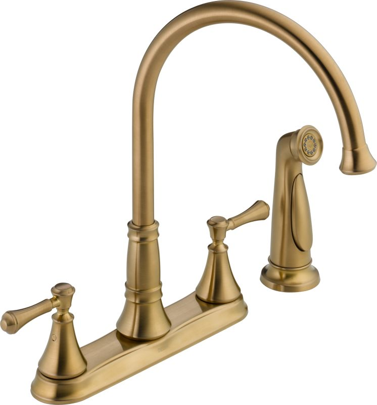 delta kitchen faucets warranty faucet 2497lf cz in champagne bronze by delta 17203