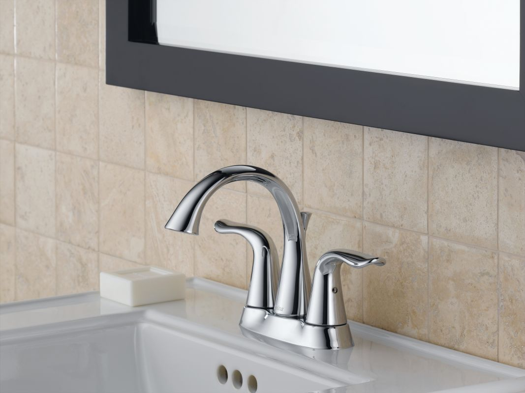 Pewter Bathroom Faucets Faucetcom 2538lf Pt In Aged Pewter By Delta