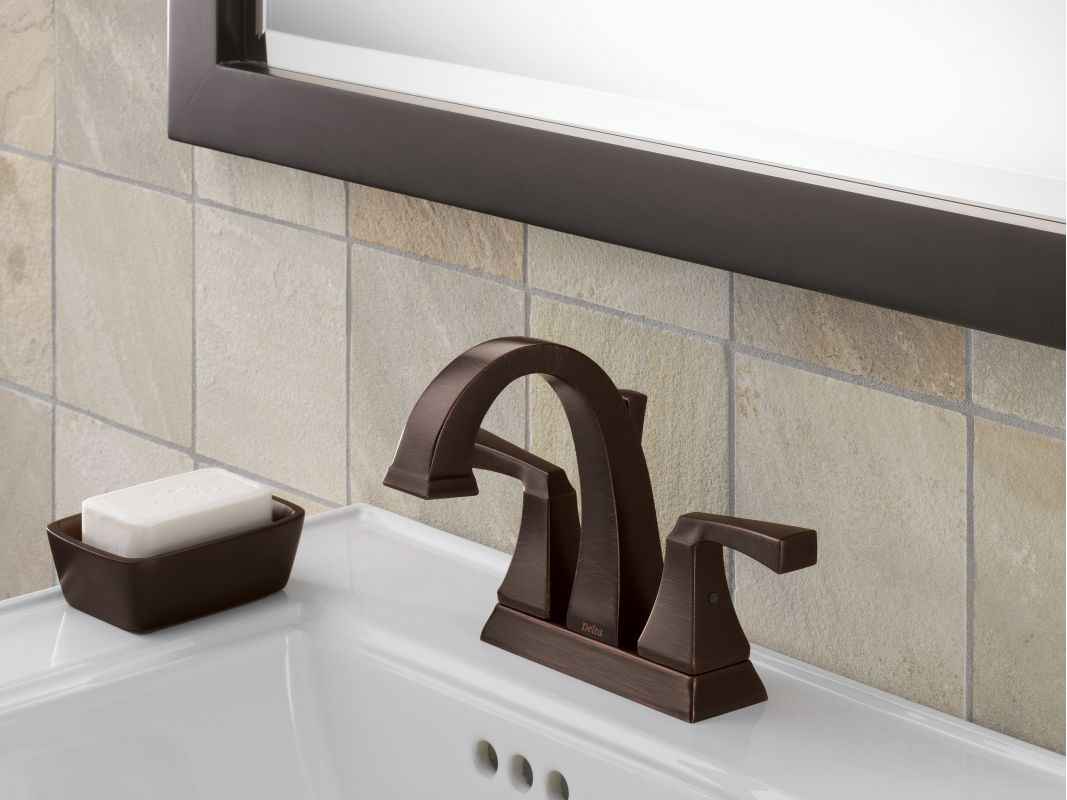 Pewter Bathroom Faucets Faucetcom 2551lf Pt In Aged Pewter By Delta