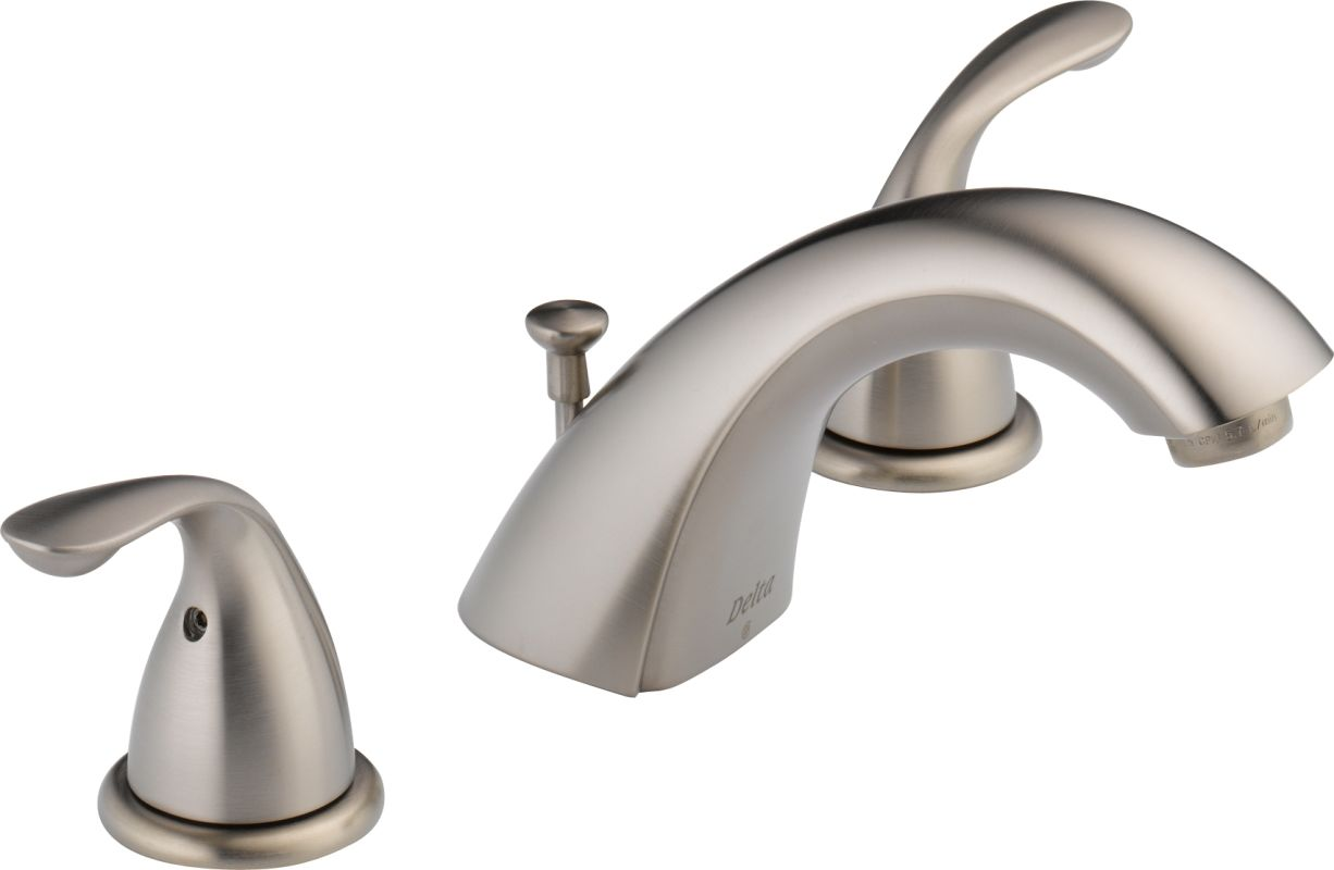 Widespread Bathroom Sink Faucets: 3530LF-SSMPU In Brilliance Stainless By Delta