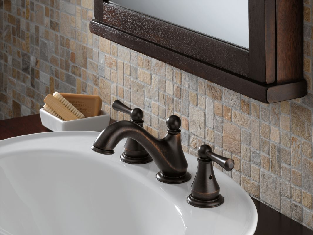 7 Faucet Finishes For Fabulous Bathrooms: 35902LF-RB In Venetian Bronze By Delta