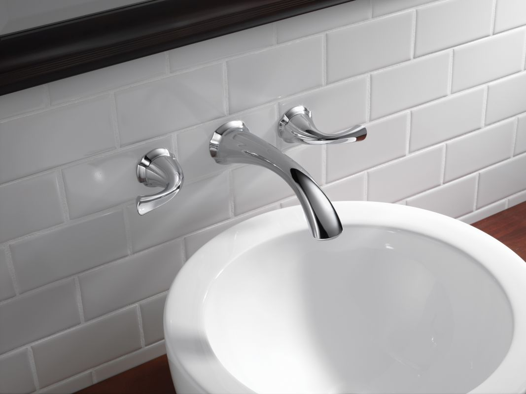 Faucet Com 3592lf Ptwl In Aged Pewter By Delta