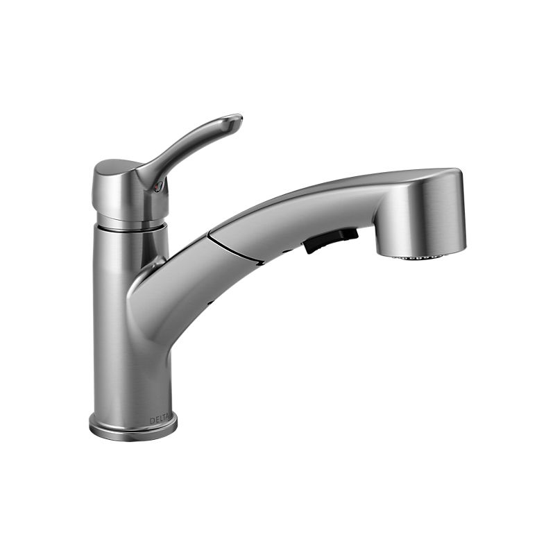 Delta Faucet Pull Out Spray Kitchen Faucet Artic Stainless