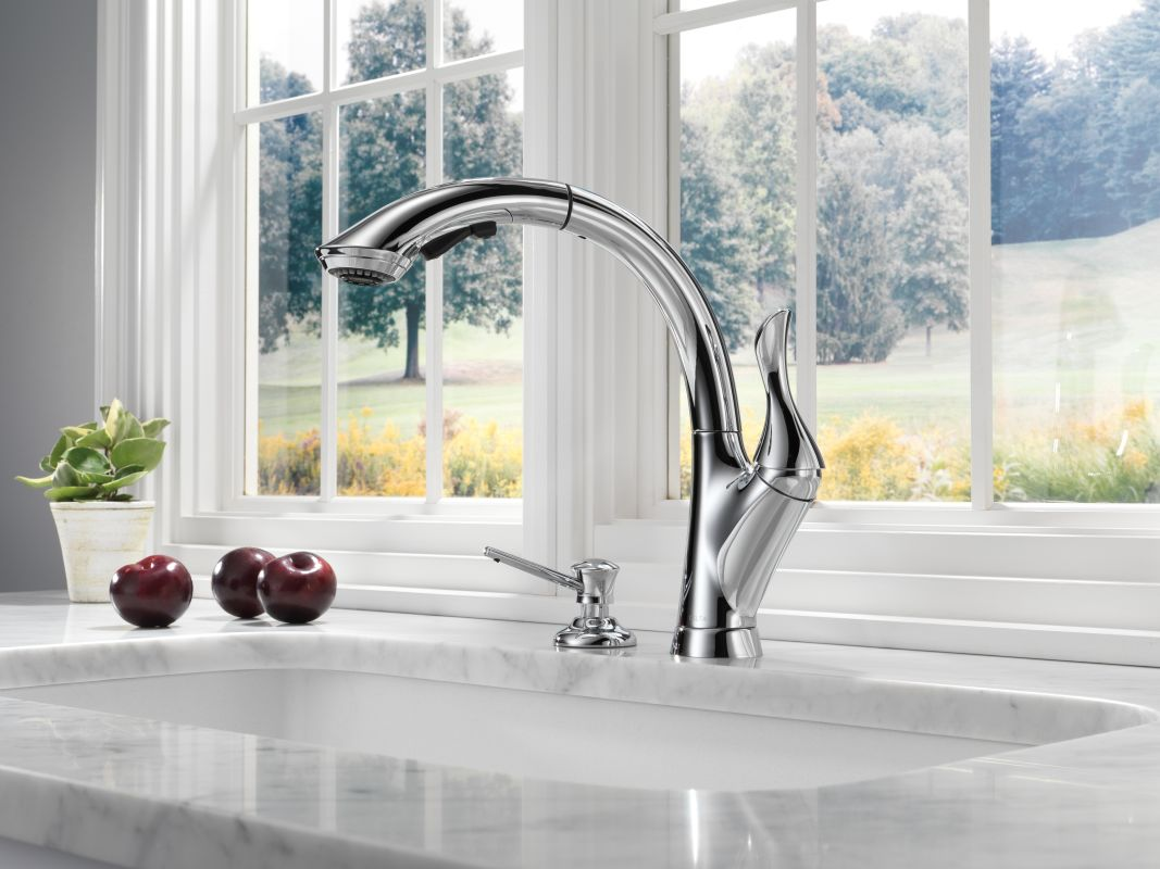 faucet com 4153 ar dst in arctic stainless by delta