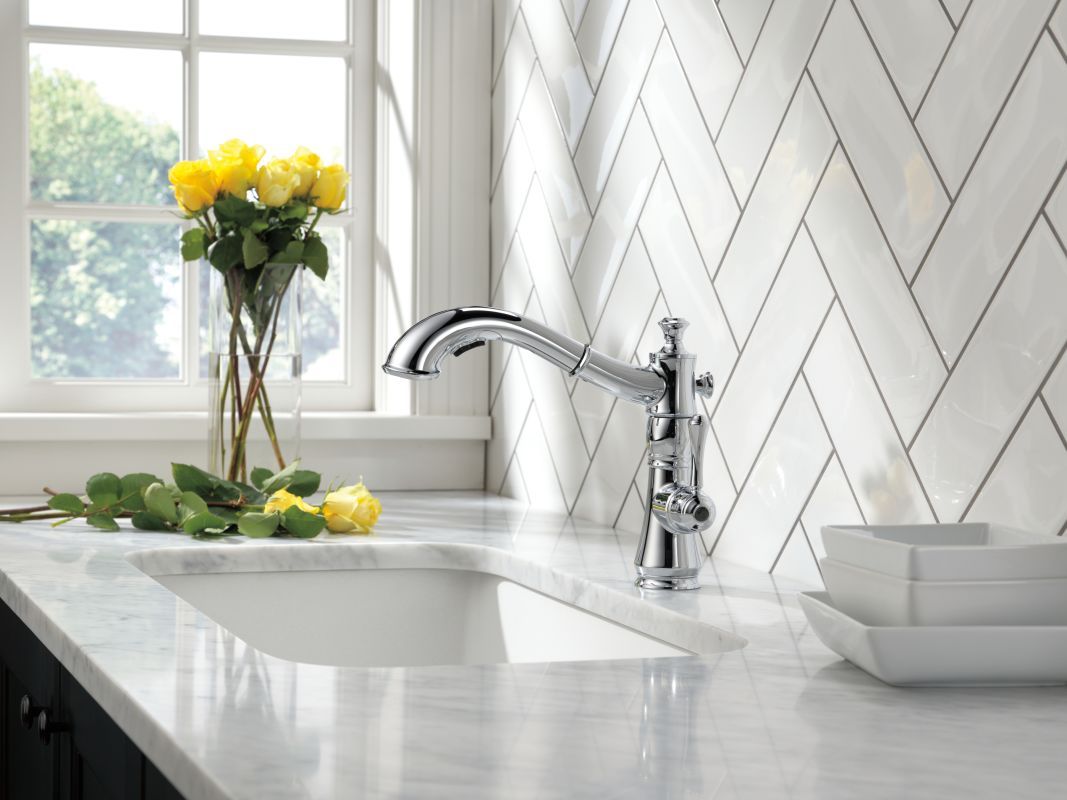 faucet com 4197 ar dst in arctic stainless by delta offer ends