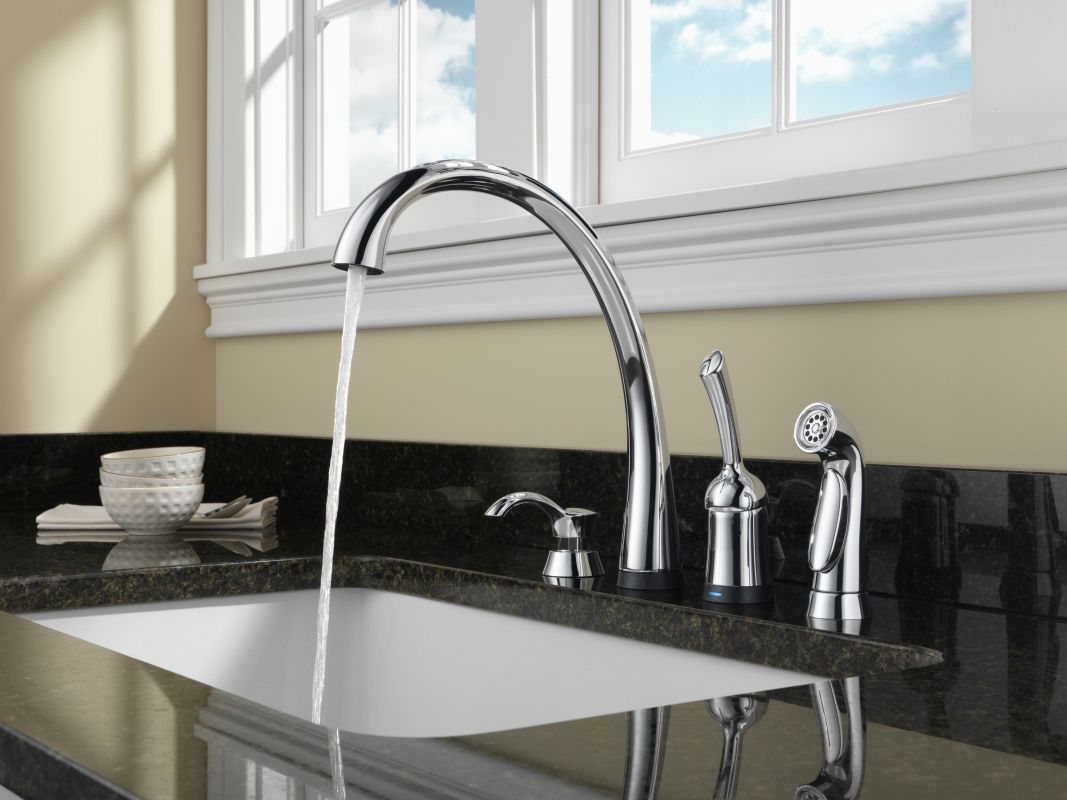 faucet com 4380t ar dst in arctic stainless by delta alternate view alternate view