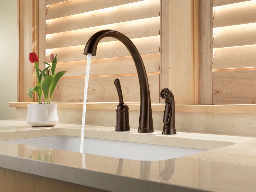 faucet com 4380t ar dst in arctic stainless by delta