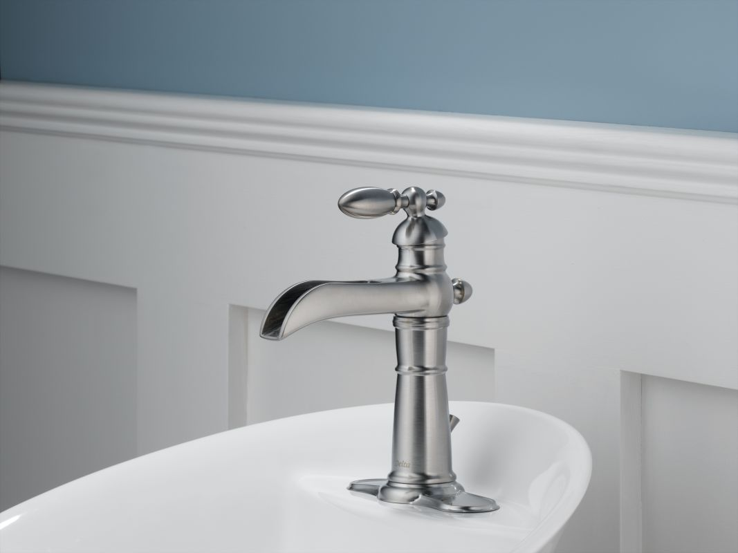 Bathroom Faucet Escutcheon Plate faucet | 554lf-ss in brilliance stainlessdelta