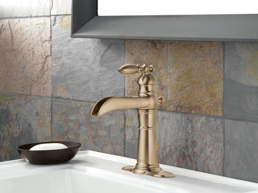 Bathroom Faucet Escutcheon faucet | 554lf-ss in brilliance stainlessdelta