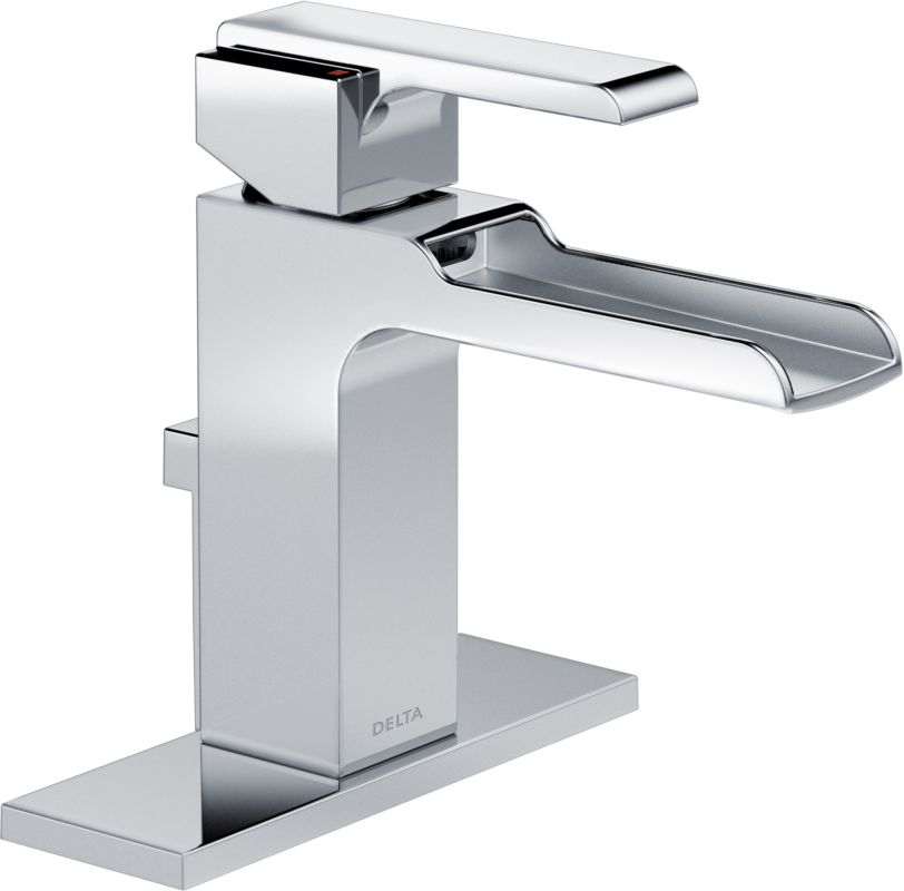 568lf mpu in chrome by delta for Single hole waterfall bathroom faucet