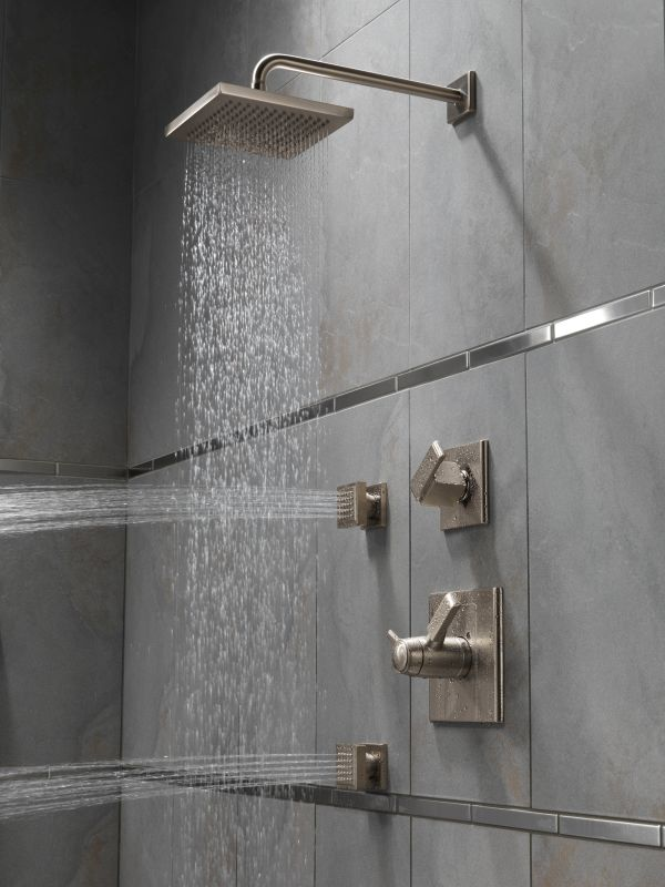 shower systems with rain head. Offer Ends Faucet com  57740 in Chrome by Delta