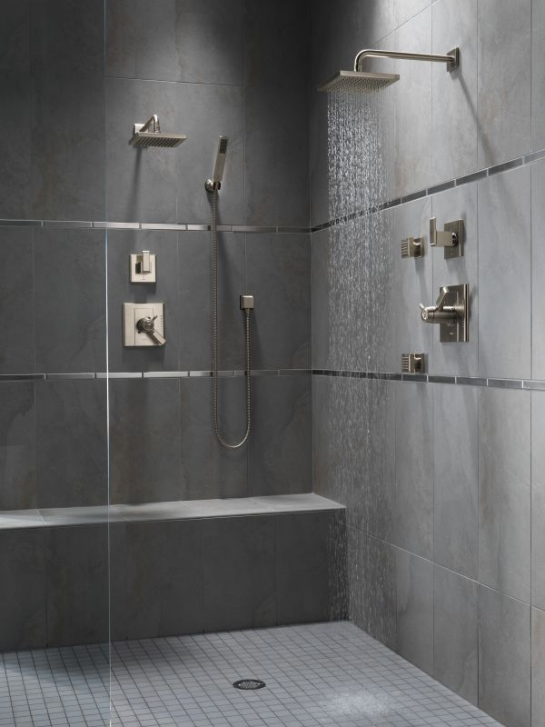 shower systems with rain head. Offer Ends Faucet com  57740 SS in Brilliance Stainless by Delta