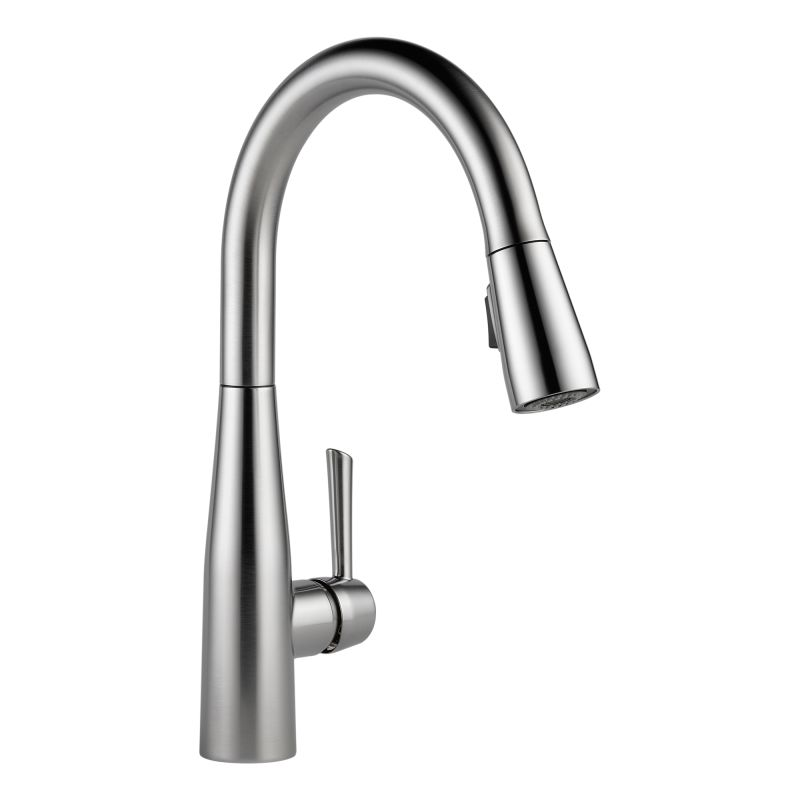 magnetic kitchen faucet faucet 9113 ar dst in arctic stainless by delta 14093