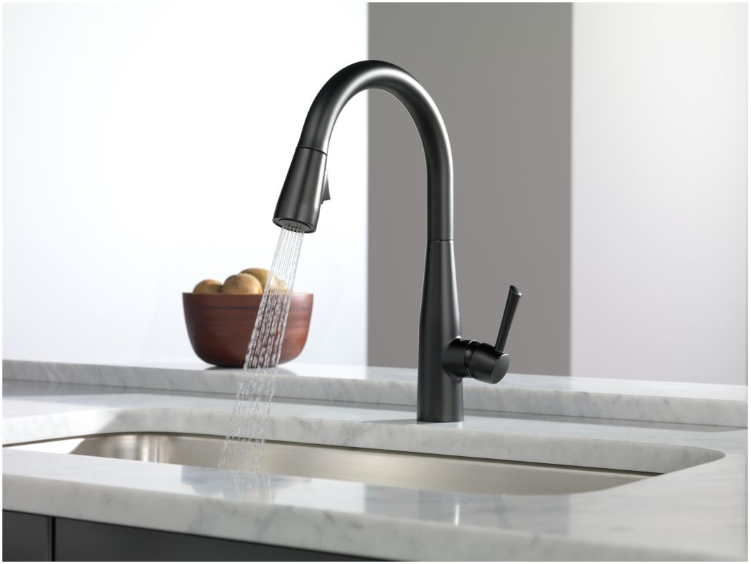 Kitchen Pull Down Faucet Reviews Faucet Com 9113 Ar Dst In Arctic Stainless By Delta